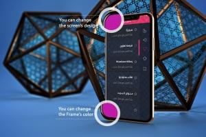 iPhone Xs智能手机屏幕设计预览样机模板 Arabic iPhone XS插图2