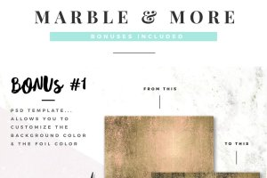 大理石&烫金锡纸纹理 Marble & More Backgrounds插图10