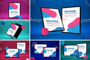 iPad Pro平板电脑UI设计屏幕预览效果图样机 Abstract iPad Pro Mockup插图1