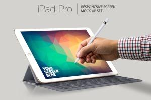 iPad Pro响应式UI设计演示设备样机 iPad Pro Responsive Mockup插图1