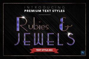 20款红宝石&珠宝文本风格的PS图层样式下载 20 RUBIES & JEWELS TEXT STYLES [psd,asl]插图4