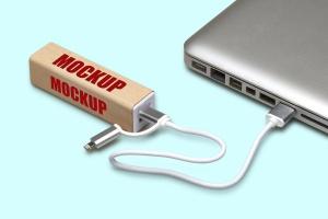 移动电源外观设计预览样机模板 PowerBank_Mockup插图1