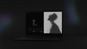 黑色超级笔记本屏幕预览样机模板 Black Laptop Mockup插图16
