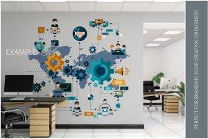 办公室墙纸设计样机模板合集 OFFICE Interior Wall Mockup Bundle插图12