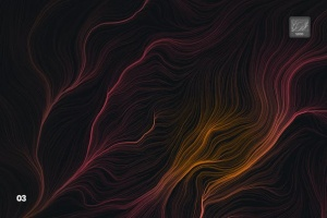 10款高分辨率抽象数流体线条PS笔刷 Digital Perlin Flow Fields Photoshop Brushes插图4
