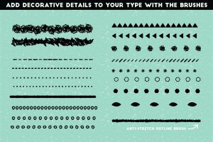铅笔手绘风格图层样式 The Hand-drawn Pencil Type Tool Kit插图11