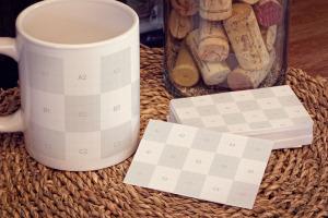 企业名片&马克杯品牌VI设计样机 Business Cards, Mug Mockup插图2