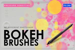 30个散景魔术效果图案PS笔刷 30 Bokeh Photoshop Brushes插图1