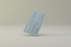 空中漂浮企业名片设计效果图预览样机 Flying Business Card Mockups插图3