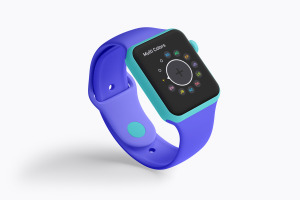 Apple Watch智能手表屏幕预览图样机01 Clay Apple Watch Mockup 01插图4