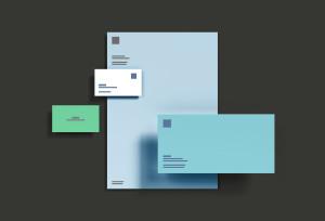 基础办公用品企业品牌VI设计预览样机模板 Basic Branding Mockup插图1