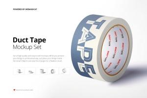 纸胶带外观图案设计样机 Paper Duct Tape Mockup插图1
