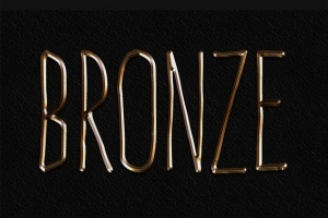 3D金属黄金字体特效PS字体样式 Metal Layer Styles – Photoshop Gold Text Effect插图4