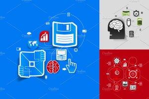 9个商业信息图形贴纸矢量图 9 business sticker infographics插图3