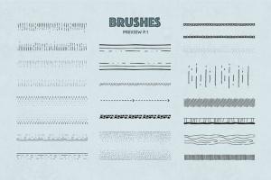 47款手绘画笔&图案AI笔刷合集 The Fairy Vector Brushes插图3