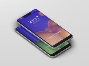 谷歌智能手机Pixel 3 XL屏幕预览样机模板 Smart Phone Mockup Pixel 3 XL插图8