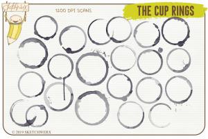 创意Procreate专用画笔素材-水彩戒指和滴水印章插图8