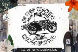 复古冲浪图案T恤印花设计素材 Surfing Retro Graphics Prints TShirt, Summer Label插图4