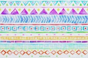 创意阿兹特克水彩画笔笔刷 Aztec Watercolor Brushes插图2
