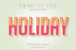 复古条纹风格文本图层样式 Vintage / Retro Text Styles插图7