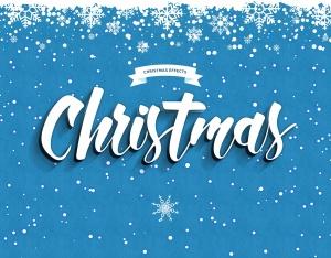 圣诞节主题海报文字样式PSD分层模板 Christmas Text Effects插图7