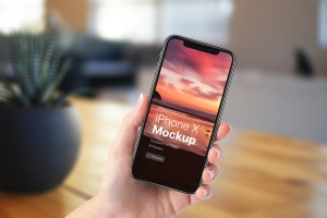 APP界面设计截图预览iPhone X手机样机模板v4 Presentation Kit – iPhone showcase Mockup插图1