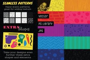好莱坞经典音乐剧/老式爵士乐矢量插画&海报设计模板 Musical Illustrations and Poster Templates插图(5)