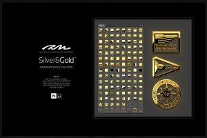 超级金色&银色金属图层样式合集 RM Silver & Gold插图4