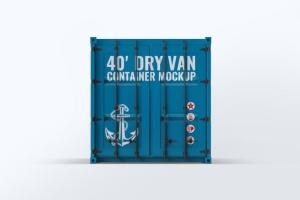 40英尺集装箱外观图案设计样机模板 40ft Dry Van Container Mock-up插图5