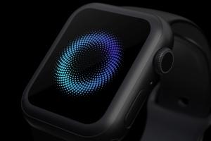 白色陶瓷Apple Watch第四代APP应用UI设计展示样机 Clay Apple Watch Series 4 (44mm) Mockup, Close up插图3