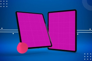 iPad Pro平板电脑UI设计屏幕预览效果图样机 Abstract iPad Pro Mockup插图13