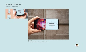 滴水屏智能手机屏幕预览样机模板 Mobile Mockups插图4