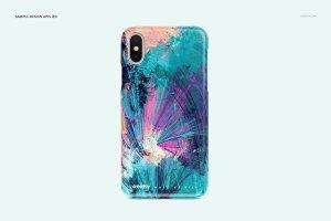 逼真的iPhone X塑料材质手机壳样机展示模型mockups插图6
