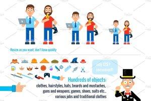 90种不同类型的卡通人物形象图标 90 Miscellaneous Avatar Characters插图3