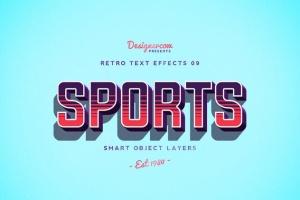 10款复古文本标题3D立体效果PS图层样式 Retro Text Effects V01插图2