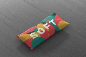时尚多彩长矩形沙发卧室枕头样机模板 Pillow Mockup – Long Rectangle插图10