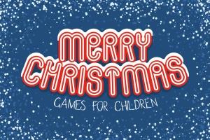 儿童风格圣诞主题矢量手绘设计素材 Christmas Games for Children插图1