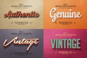 经典复古文本图层样式v1 Vintage Text Effects Vol.1插图3