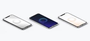iPhone XS Max智能手机等距左视图样机 iPhone XS Max Mockup, Isometric Left View插图4