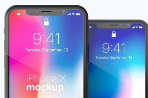 iPhone X手机APP应用UI设计效果图免费样机素材 Free iPhone X Mockup 03插图2