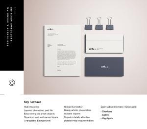 高端品牌VI设计办公用品预览样机PSD模板 Full Branding & Identity Mockup PSD插图1
