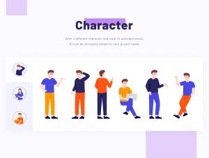 一流设计素材网下午茶:创业概念的矢量插画素材下载[Sketch,Ai]插图3