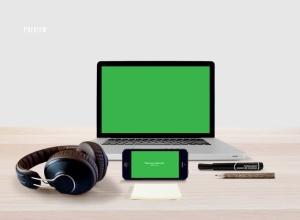 响应式网页设计预览样机套件 Responsive Mock-Up Web Display Kit插图9