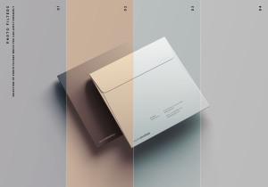 方形企业信封设计样机模板 Square Envelope Mockup插图9