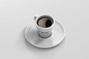 逼真咖啡杯马克杯样机模板 Espresso Cup Mockup – Cone Shape插图12