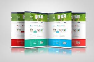 网站/网页设计效果图样机模板 Web Pages Presentation Mock Up插图1