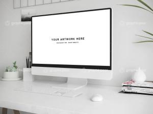 Mac台式电脑办公场景样机插图4