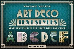 30年代复古装饰艺术PS图层样式 Art Deco Styles插图1