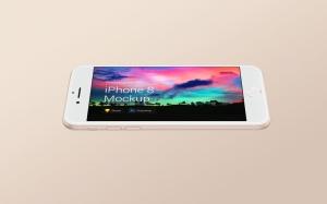 超级主流桌面&移动设备样机系列:iPhone 8 苹果智能手机样机 [兼容PS,Sketch;共3.72GB]插图8