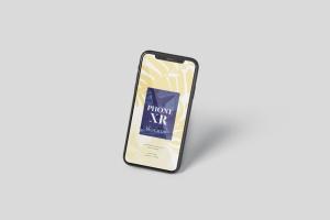 iPhone XR智能手机多角度屏幕预览样机模板 Phone XR Mockup插图6